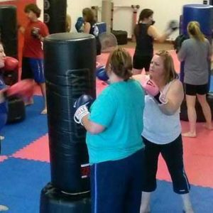 adult group fitness class