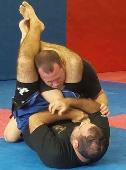 grappling demonstration in Mike Price's adult self defense class