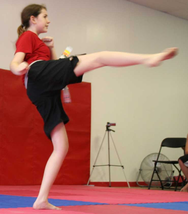 roadhouse junior kicking demonstration martial arts